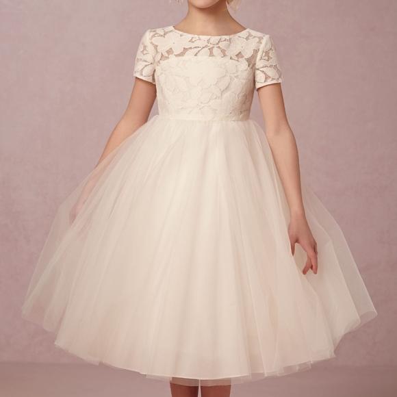 2820c43544a BHLDN Portia Flower Girl Dress in Ivory. M 5b7c9cafc61777e0c763b736